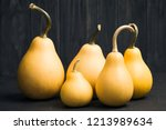 pumpkins on black background... | Shutterstock . vector #1213989634