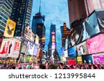 new york  usa   september 26 ... | Shutterstock . vector #1213995844