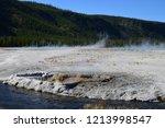 cliff geyser erupts  in upper... | Shutterstock . vector #1213998547