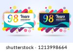 98 years pop anniversary modern ... | Shutterstock .eps vector #1213998664
