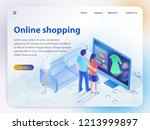 online shopping. ecommerce... | Shutterstock .eps vector #1213999897