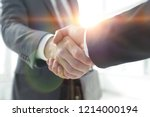 closeup of business leader... | Shutterstock . vector #1214000194