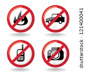 "set of ""do not"" allowed ... 