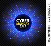 cyber monday sale banner with... | Shutterstock .eps vector #1214002324