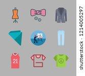 cloth icon set. vector set... | Shutterstock .eps vector #1214005297