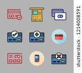 debit icon set. vector set... | Shutterstock .eps vector #1214008591