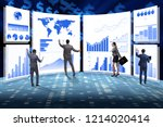 concept of business charts and... | Shutterstock . vector #1214020414