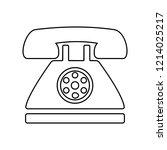 retro phone icon. simple...