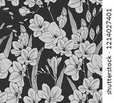 seamless pattern in gray colors ... | Shutterstock .eps vector #1214027401