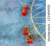 wheel amusement park vintage... | Shutterstock . vector #121404505