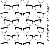 glasses seamless pattern | Shutterstock .eps vector #1214055664