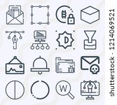simple set of  16 outline icons ...