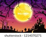 happy halloween vector... | Shutterstock .eps vector #1214070271
