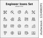 thin line icons set of engineer.... | Shutterstock .eps vector #1214080291