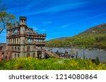 bannerman island castle with... | Shutterstock . vector #1214080864