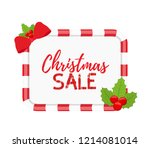 vector christmas frame for sale ... | Shutterstock .eps vector #1214081014