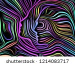 inner geometry series.... | Shutterstock . vector #1214083717