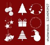 vector set for christmas  white ... | Shutterstock .eps vector #1214092927