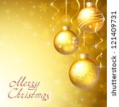 background with christmas... | Shutterstock . vector #121409731