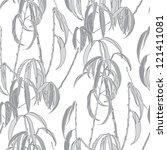 leaf seamless pattern | Shutterstock .eps vector #121411081