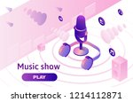 modern music radio show or... | Shutterstock .eps vector #1214112871