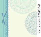 vintage blue christmas...   Shutterstock .eps vector #121411669