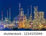 oil industry refinery factory   ... | Shutterstock . vector #1214153344