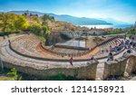 ohrid  republic of macedonia  ... | Shutterstock . vector #1214158921