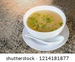 mush morning breakfast bowl on... | Shutterstock . vector #1214181877