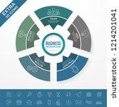 set of business infographic... | Shutterstock .eps vector #1214201041