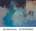 2d illustration. artistic... | Shutterstock . vector #1214204044
