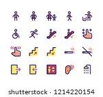 simple set of wayfinding...   Shutterstock .eps vector #1214220154