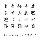 simple set of wayfinding... | Shutterstock .eps vector #1214220157