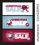 vector christmas banner design... | Shutterstock .eps vector #1214220901