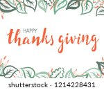 thanksgiving lettering.... | Shutterstock .eps vector #1214228431
