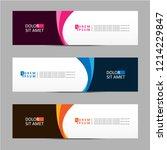 vector abstract banner design... | Shutterstock .eps vector #1214229847