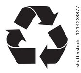 recycle logo symbol black and... | Shutterstock . vector #1214238877