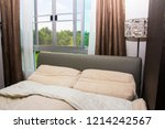bright and cozy modern bedroom  | Shutterstock . vector #1214242567