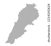 lebanon map country abstract... | Shutterstock . vector #1214242624