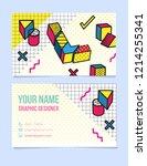 modern typographic  isometric... | Shutterstock .eps vector #1214255341