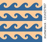 blue waves pattern   Shutterstock .eps vector #1214257507