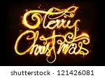 illustration of swirly merry... | Shutterstock .eps vector #121426081