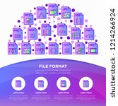 file formats concept in half... | Shutterstock .eps vector #1214266924