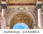corinthian style paris... | Shutterstock . vector #1214268811