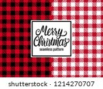 merry christmas hand drawn... | Shutterstock .eps vector #1214270707