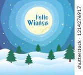 landscape background of snow... | Shutterstock .eps vector #1214276917