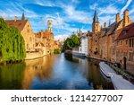 the rozenhoedkaai canal ... | Shutterstock . vector #1214277007