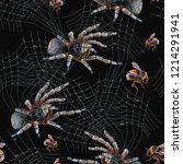 embroidery spider and web... | Shutterstock .eps vector #1214291941