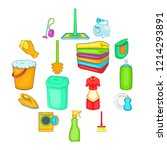 household elements icons set in ... | Shutterstock . vector #1214293891