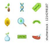 organic substance icons set.... | Shutterstock . vector #1214298187